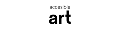 Logo of the Accessible Art Program, formed by the letters of both words in black over a white background.